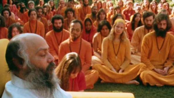 "A still from ""Wild Wild Country."""