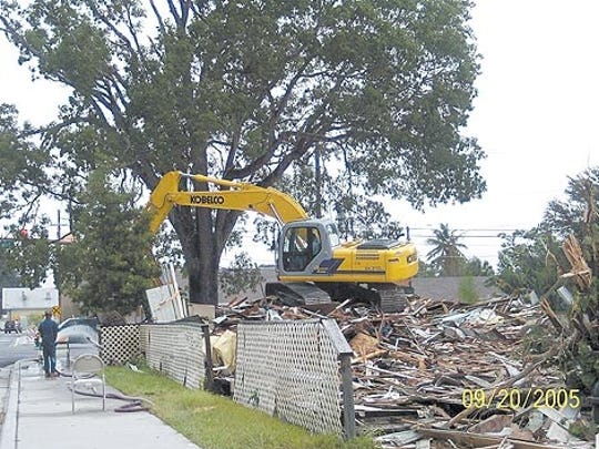 This submitted photo shows the Wayside Inn being demolished in 2005.