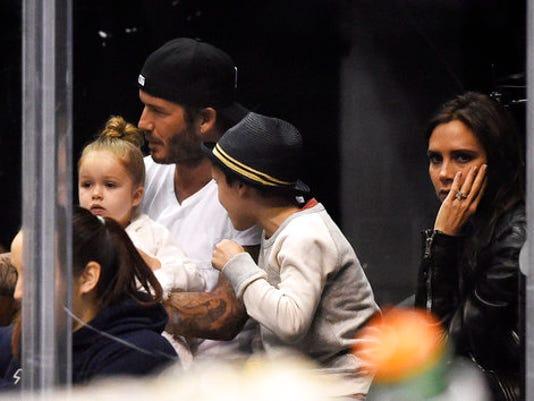 David Beckham, Cruz Beckham, Victoria Beckham, Harper Beckham
