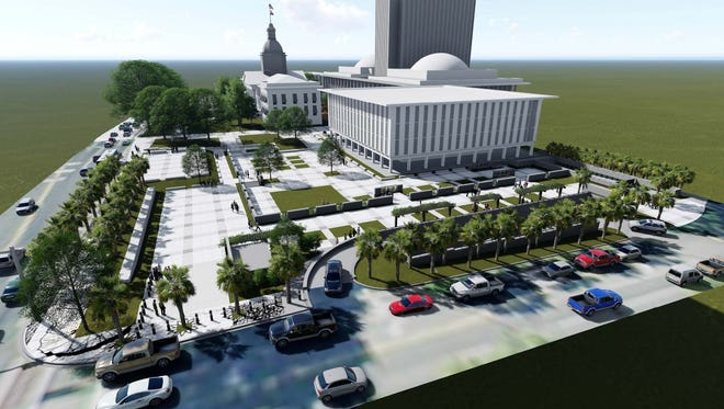 A proposed rendering of the Florida House and Veteran's Memorial Park.