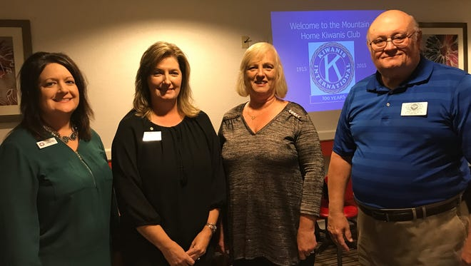 The Kiwanis Club of Mountain Home recently installed officers for the 2017-2018 year. Elected were: (from left)Tabitha Hall, Vice President/President Elect; Lisa Sutterfield, President; Debbie Reaves, Treasurer; and Don Truitt, Secretary.Kiwanis is a global organization of volunteers dedicated to changing the world, one child and one community at a time. The clubmeets at noon on the second and fourth Wednesday of each month atPizza Inn. For information, visit their Facebook page: Kiwanis Club of Mountain Home or website: kiwanisclubofmountainhome.org.