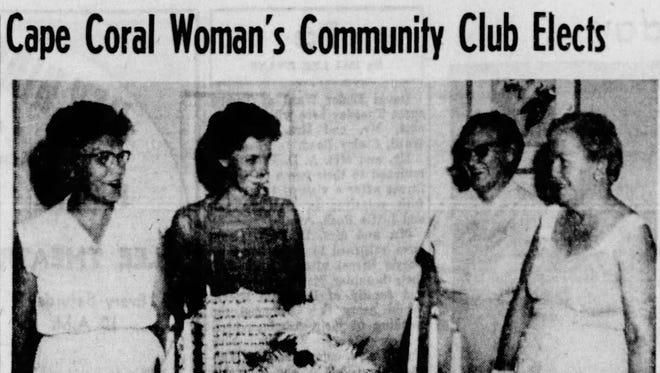 The Cape Coral women's club held its first meeting in 1959.
