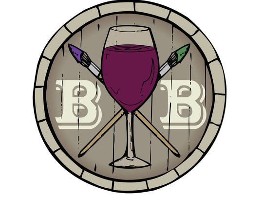 The logo for Brush and Barrel in Coralville.