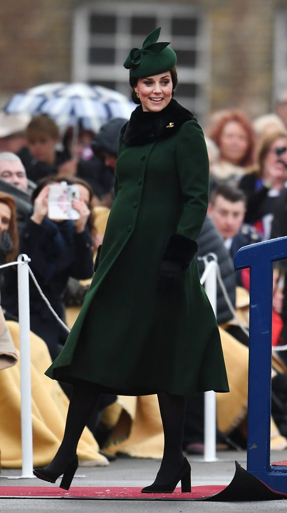 Unfortunately, Kate's Catherine Walker coat is not