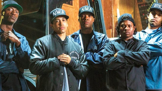 """""""Straight Outta Compton"""" is a music biopic of rap group N.W.A."""