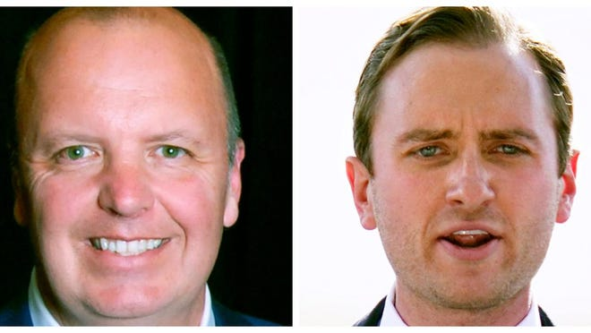 Matt Mayberrry, left, and Matt Mowers will face off in the Sept. 8 New Hampshire Republican state primary for Congressional District 1.