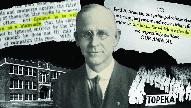 Fred Seaman, namesake of Seaman Unified School District 345, was a complicated man, beloved by his school community but also a member of the Topeka Ku Klux Klan. It is a legacy the district's patrons are still unraveling more than 70 years after his death.
