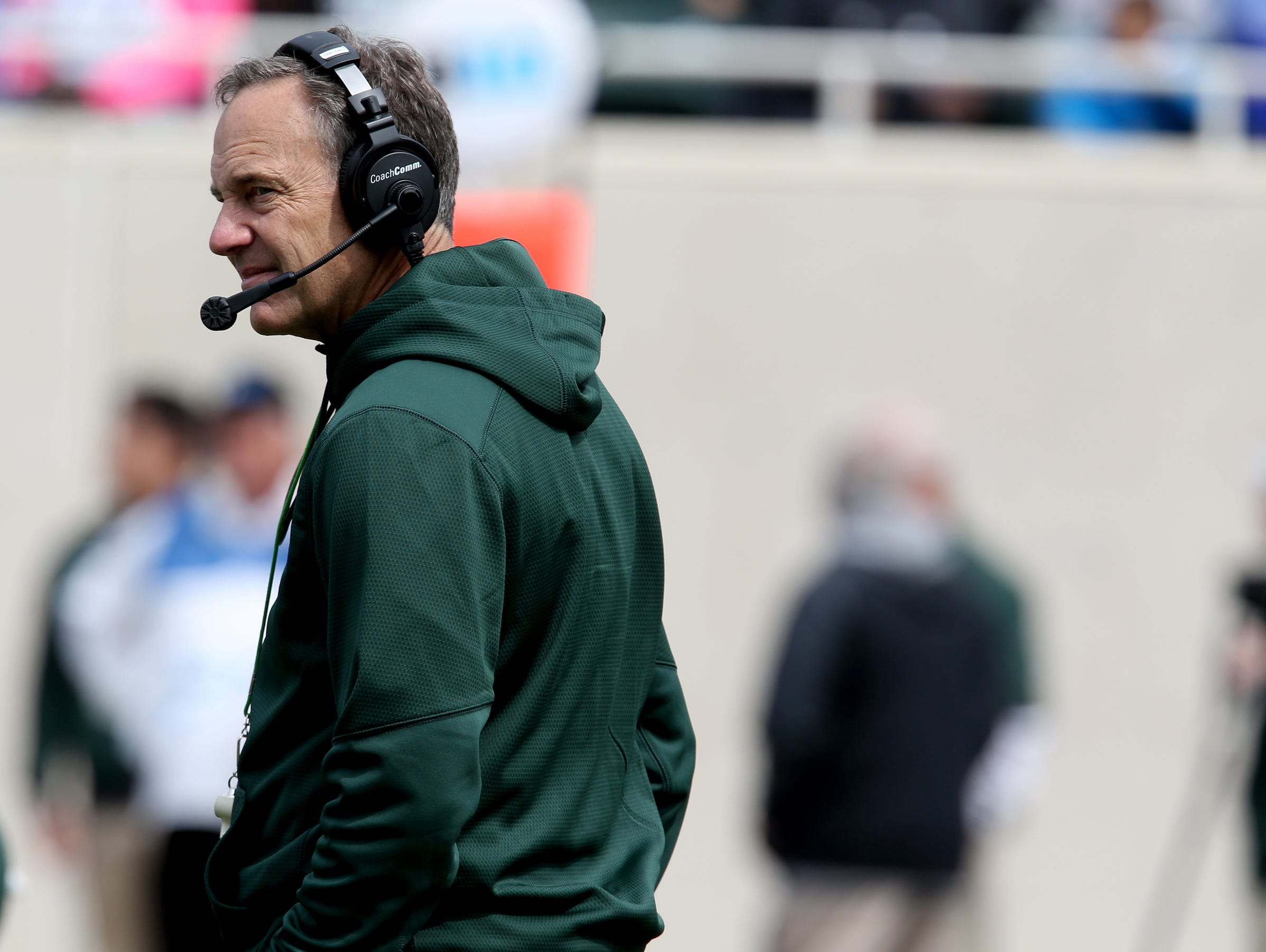 Michigan State head football coach Mark Dantonio.