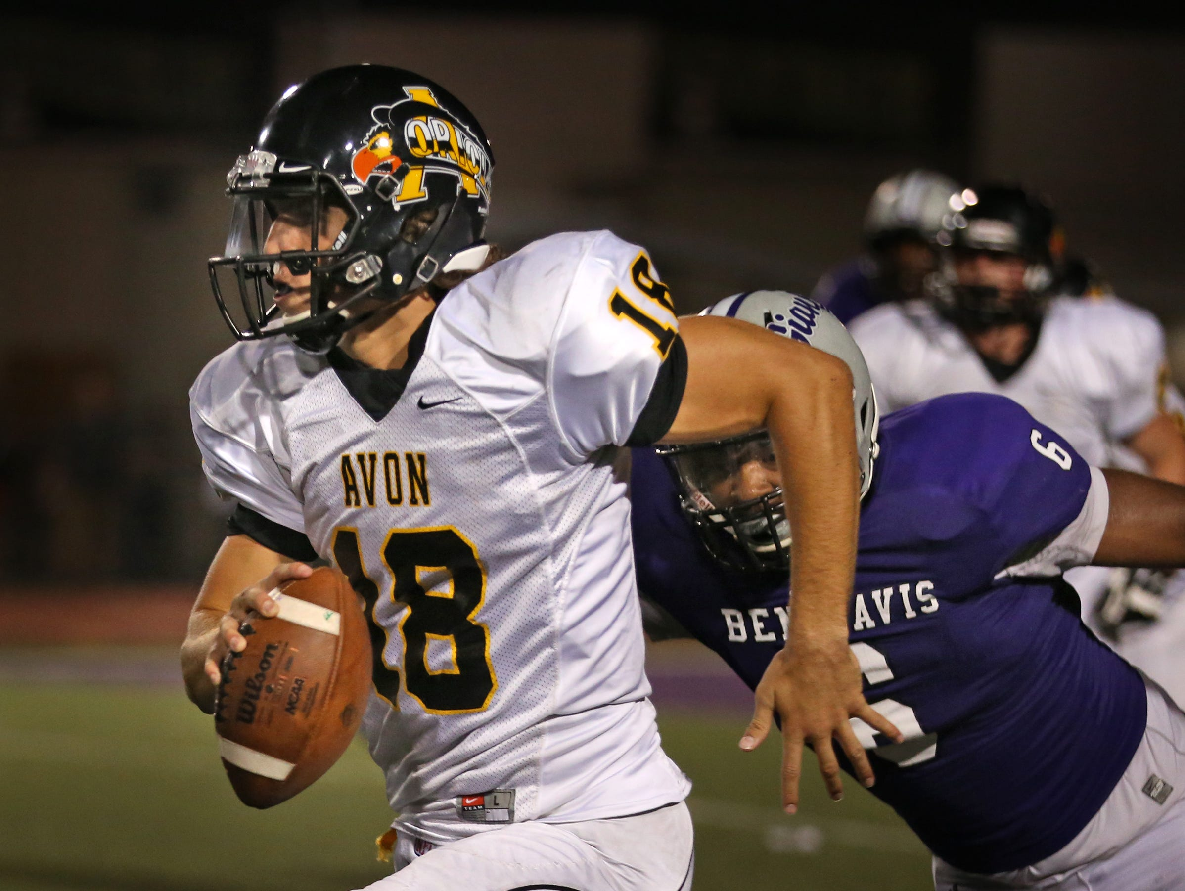 Despite another strong performance from Brandon Peters, Avon came up just short against No. 1 Ben Davis on Friday.