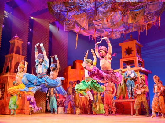 """""""Disney's Aladdin,"""" at Wharton Dec. 4-15, is fun entertainment with lots of magic and cool theatrical effects."""
