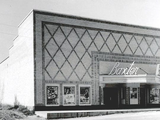 The Baxter Theater was located on Baker Street south of the square. It seated 650 people — and even had a cry room for mothers and their infants. In addition to movies, the Baxter had a stage and showcased music acts, beauty pageants and other events.