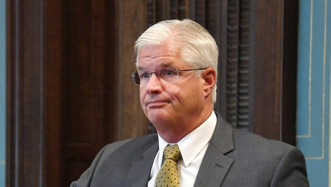Michigan Sen. Mike Shirkey, R-Clarklake, said the state Civil Rights Commission overstepped its power by deciding a 1976 state law protects gays and transgender individuals from discrimination. The Legislature has that authority, he said.
