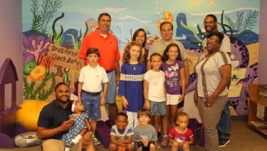 Fathers, daughters and sons had fun at the monthly Juliette Hampton Morgan Memorial Library reading program known as Dads and Daughters Saturday.