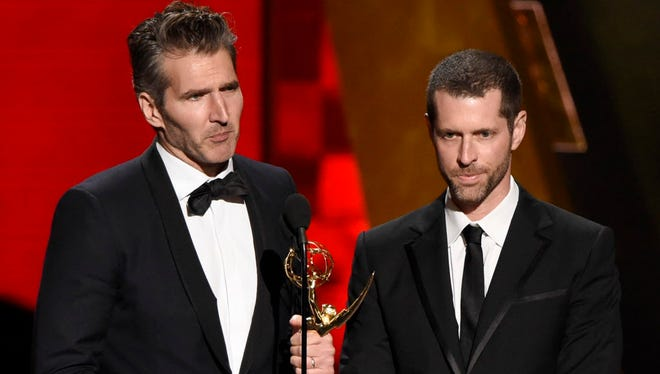 David Benioff, left, and D.B. Weiss.
