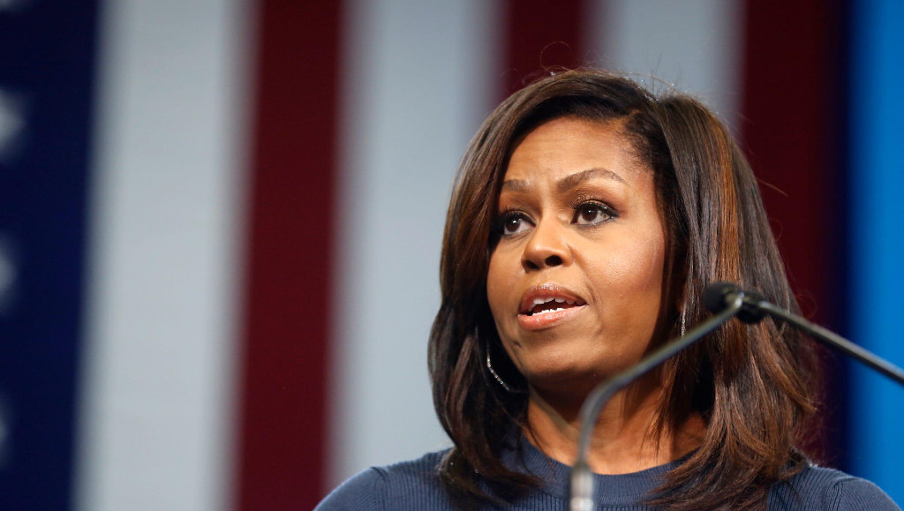Michelle Obama Speech Locker Room