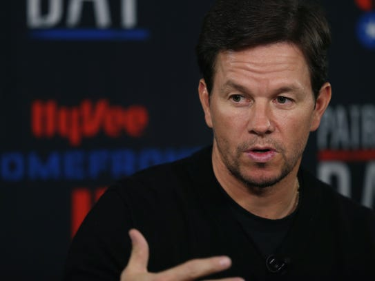 Actor Mark Wahlberg speaks during a news conference