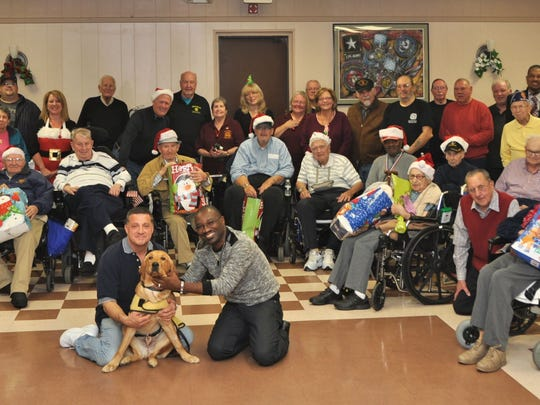 On Dec. 13, Post 9111 of the Veterans of Foreign Wars (VFW) in Kendall Park hosted 15 veterans from the Soldiers' Home in Edison for a Holiday luncheon. Mr. and Mrs. Claus presented gifts to the vets and a good time was had by all.