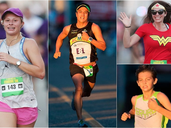 More than 800 area runners took part in the Edison
