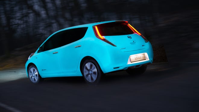 Nissan in Europe says it has become one of the first manufacturer to apply glow-in-the-dark car paint to underscores how the electric Leaf is eco-friendly.