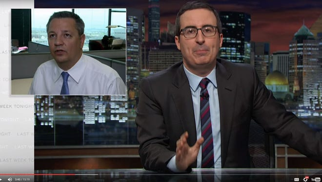 The Republic's own Ron Hansen made an appearance on HBO's Last Week Tonight, hosted by Daily Show alum John Oliver.