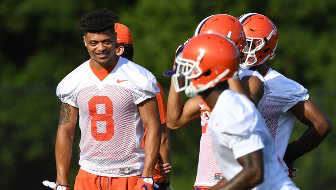 Clemson defensive back A.J. Terrell (8) during the Tigers opening day of practice on Friday, August 3, 2018.