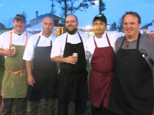 FEAST! chefs take a bow: Jason Brady, Matt Conover,