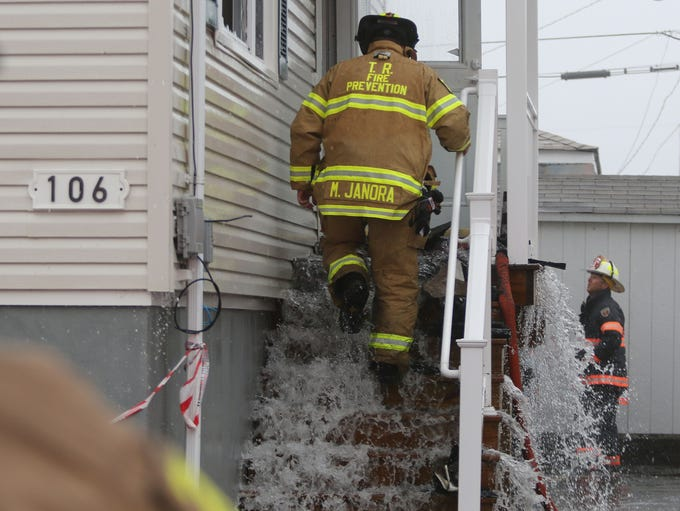 Structure fire at 106 Sea Gull Lane in Ortley Beach,