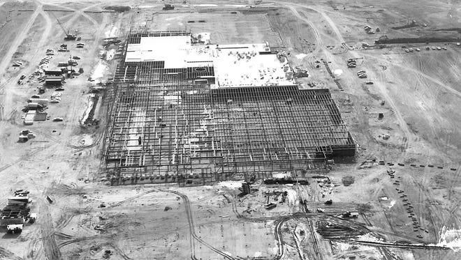 This circa 1970s photo shows the beginning stages of construction at Eastview Mall.