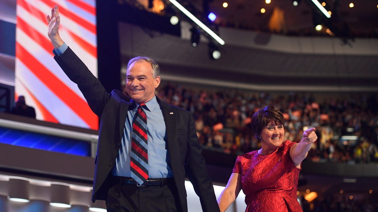 Twitter erupted with dad jokes about Tim Kaine during his VP nomination acceptance speech at the Democratic National Convention.