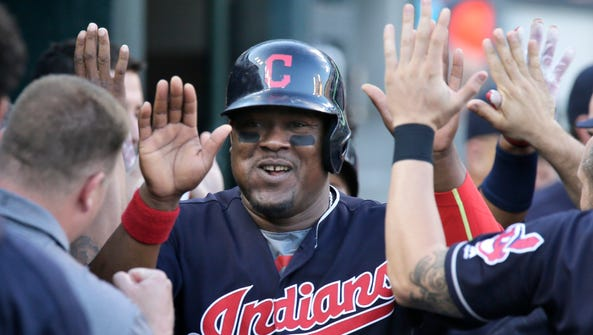 Juan Uribe and the Indians are now 7-0 against the
