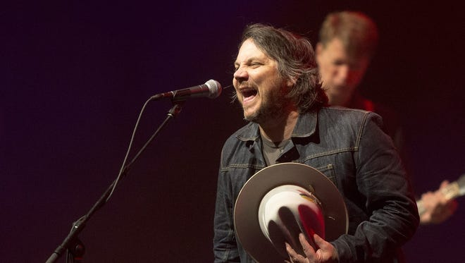 Vocalist Jeff Tweedy performs with Wilco at Old National Centre.