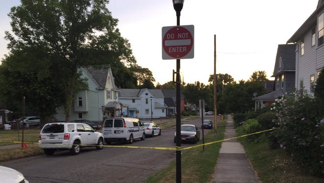 Rochester police investigate a fatal stabbing on Seward Street Tuesday morning.