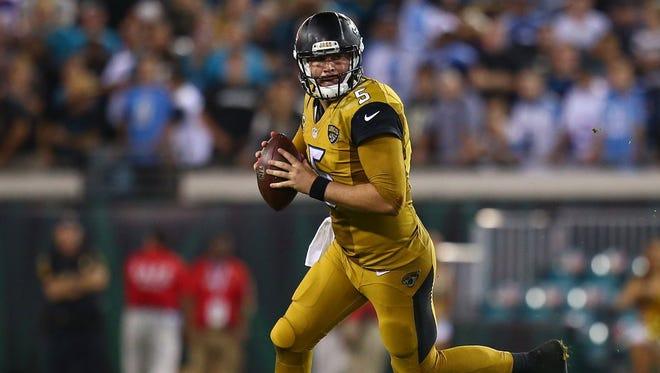Jaguars QB Blake Bortles is not a fan of his team's NFL Color Rush uniform.