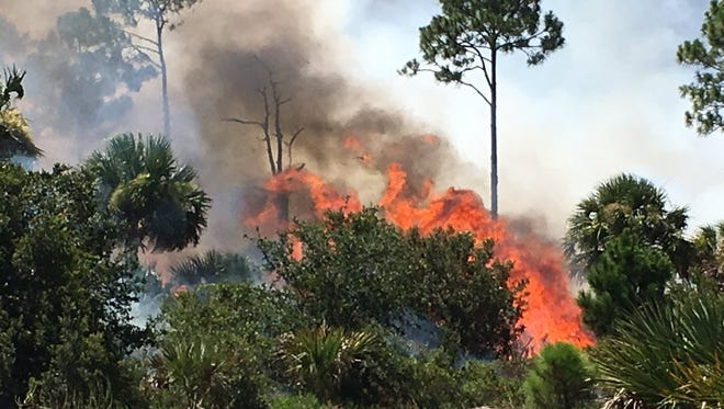 More smoke and ash floated from the Merritt Island National Wildlife Refuge to parts of northern Brevard County Tuesday.