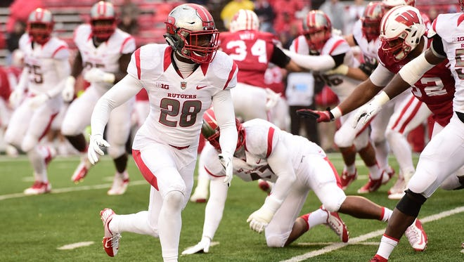 Na'jee Clayton played safety as a true freshman at Rutgers during the 2015 season.