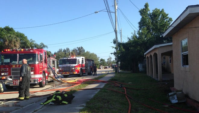 Several fire agencies teamed up to handle a house fire on Dairy Road Wednesday.