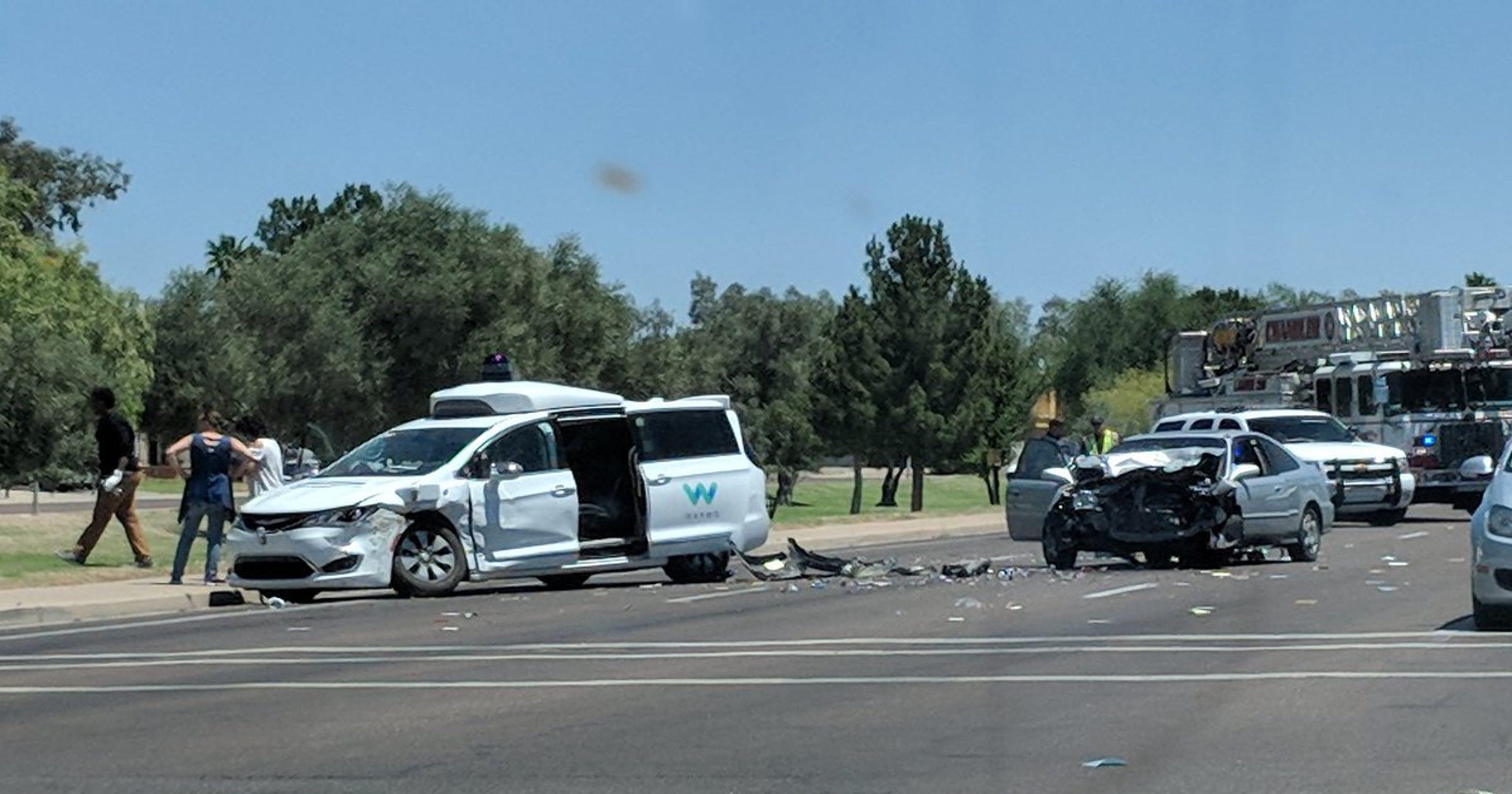 Video shows Google self-driving van being hit by car in Arizona