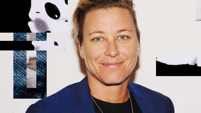 """Retired soccer star Abby Wambach shared her journey of learning """"to be grateful for what we have while also demanding what we deserve"""" with Barnard College's graduating class of 2018"""