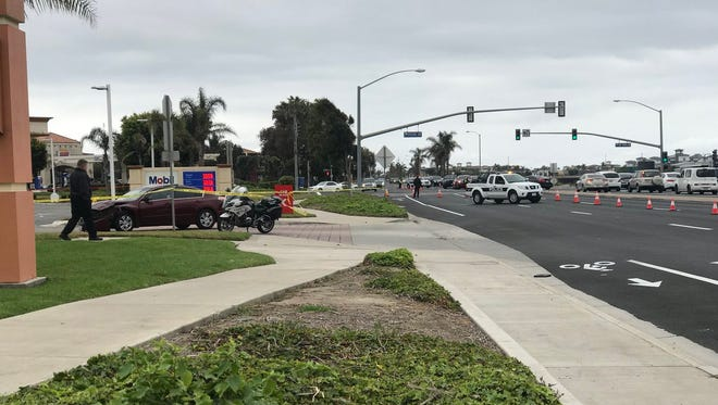 Oxnard police were investigating a fatal assault Wednesday morning, involving a car and a pedestrian.
