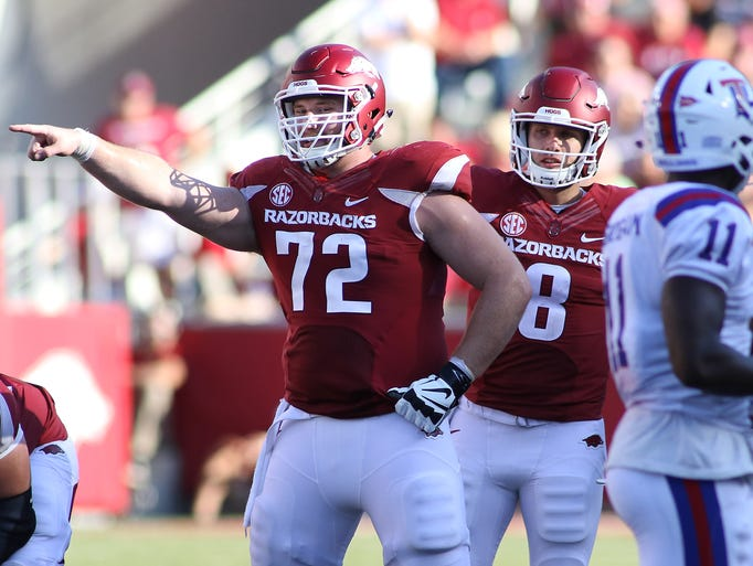 The Lions selected Arkansas center Frank Ragnow with