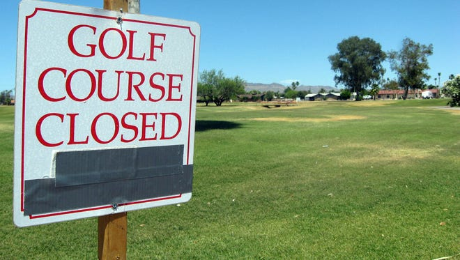 The Dreamland Villa Golf Course, now closed, is the subject of a zoning case to be decided May 19, 2014, by the Mesa City Council. Neighbors in an abuttingÊage-restricted community oppose plans to build single-family homes on the tract.
