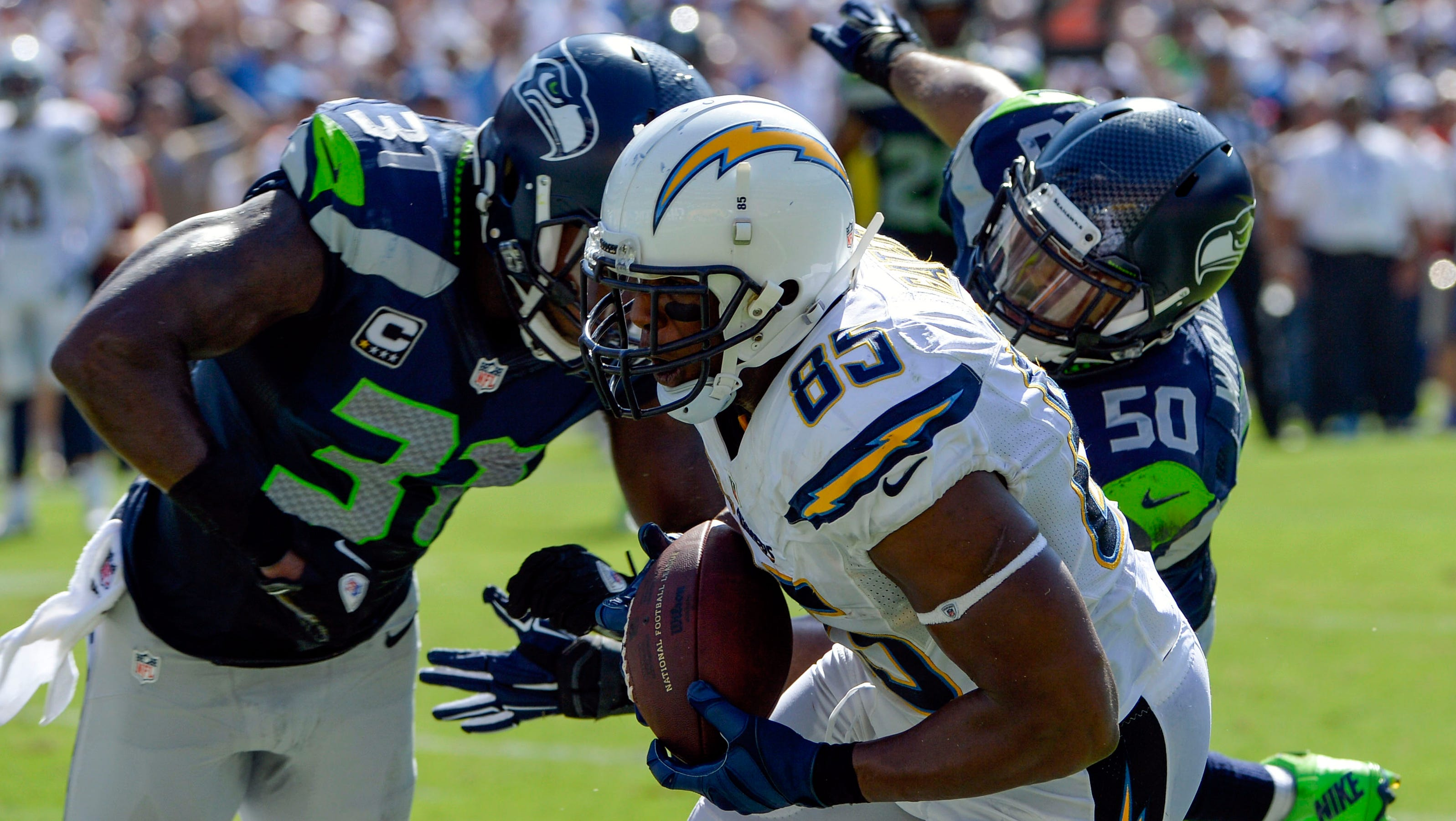 Antonio Gates Three Tds Carry Chargers Past Seahawks