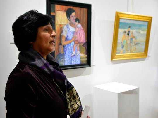 Latino artist Rosa Luz Catterall talks about her work