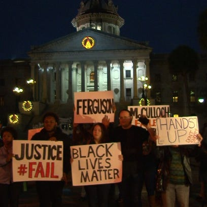 After the grand jury decision images of violence overpowered