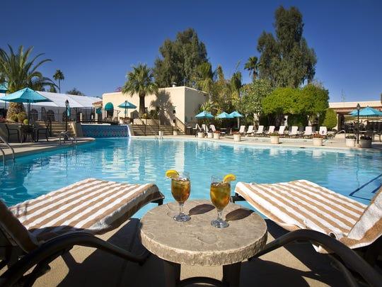 The pool area at Scottsdale Plaza Resort.