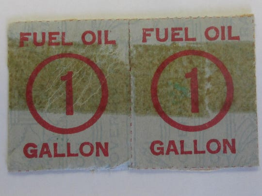 World War II fuel ration stamps.