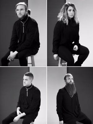 KOPPS' thousand-mile stare portrait, starting from the upper-left: Travis Johnasen, Patricia Patron, Kyle O'Hara and Andy York.