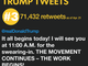 Most retweeted Trump tweets: No. 3