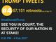 Most retweeted Trump tweets: No. 4