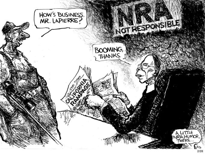 Pat Oliphant | A little NRA humor